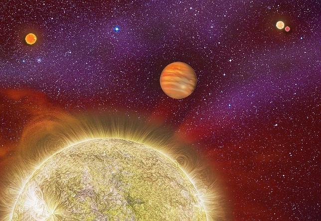 El sistema descubierto en Aries tiene cuatro soles
