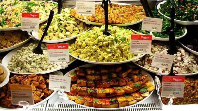 Alimentos vegetarianos y veganos