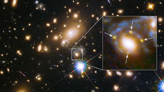 Cuatro imágenes de la explosión de una estrella respaldan a Einstein