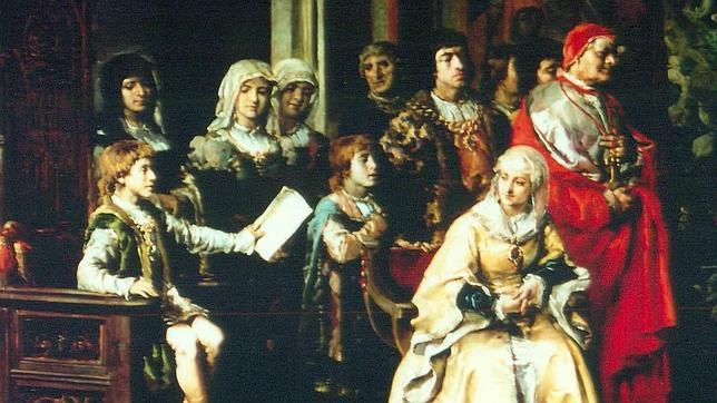 """Cuadro «La Educación de Juan de Trastámara por parte de Isabel """"la Católica""""»"""
