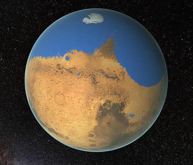 Marte contaba con más de 20 millones de kilómetros cúbicos de líquido