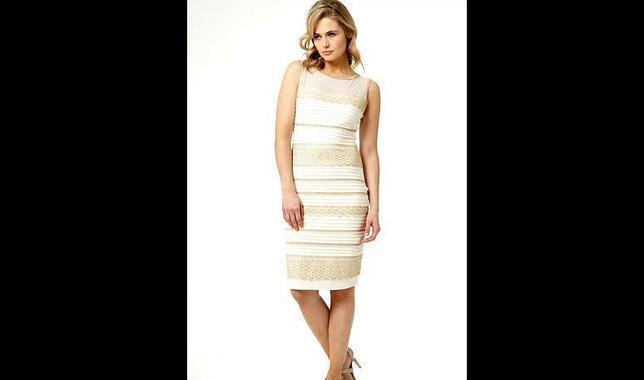 Verdad del vestido blanco con dorado