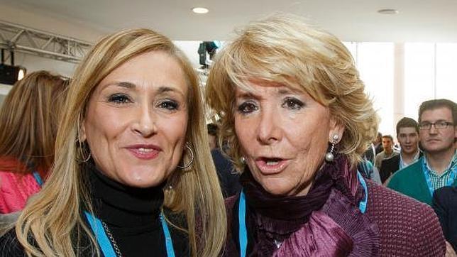 Convención Nacional del Partido Popular Esperanza Aguirre con Cristina Cifuentes