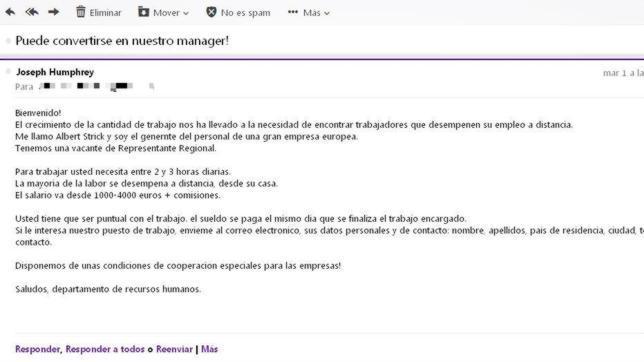 0062a31ed0a Lo que esconden las falsas ofertas de trabajo que llegan a tu email