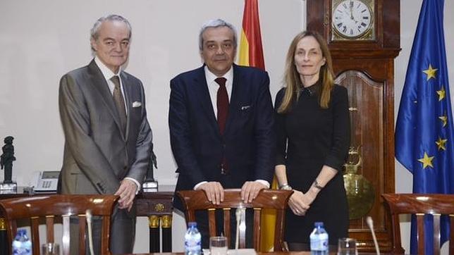 El secretario de Estado de Telecomunicaciones y para la Sociedad de la Información, Víctor Calvo-Sotelo, junto a representantes BSA The Software Alliance y AMETIC