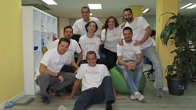 El equipo de Fundera, con Diego Soro en la parte baja de la imagen