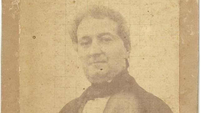 Retrato de Pascual Pérez Rodríguez, primera fotografía en papel en España