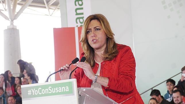 La presidenta de la Junta de Andalucía y candidata del PSOE, Susana Díaz, en Jaén