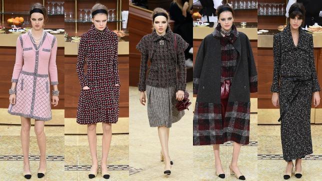 5506b83e9 Los seis largos de falda de Karl Lagerfeld para Chanel