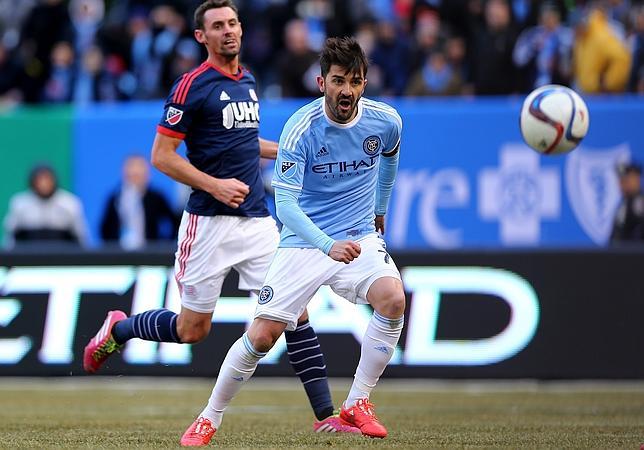 Villa estrena el Yankee Stadium con su primer gol en la Liga americana
