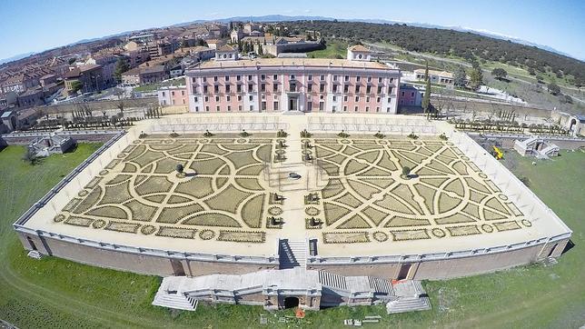 Imagen actual del palacio realizada con un dron