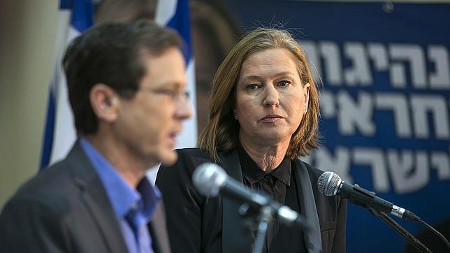 Livni (derecha) y Herzog (izquierda) en una imagen de archivo