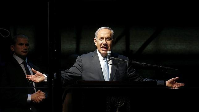 Netanyahu en uno de los actos de su campaña