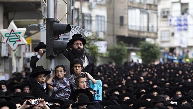 Ultradoxos durante un acto de campaña en Israel