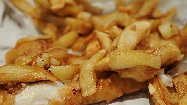 Fish and chips, una comida típica de la dieta tradicional británica