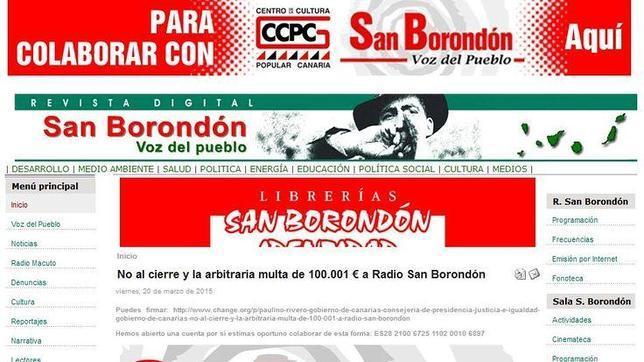 Captura de la web de San Borondón