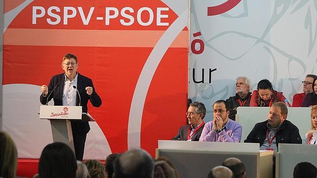 Ximo Puig, durante el Comité Nacional del PSPV celebrado este sábado