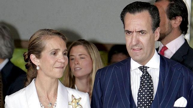 Doña Elena y Jaime de Marichalar en febrero de 2010