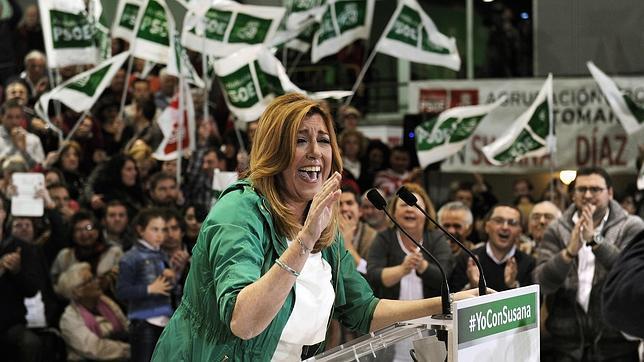 Susana Díaz durante el último día