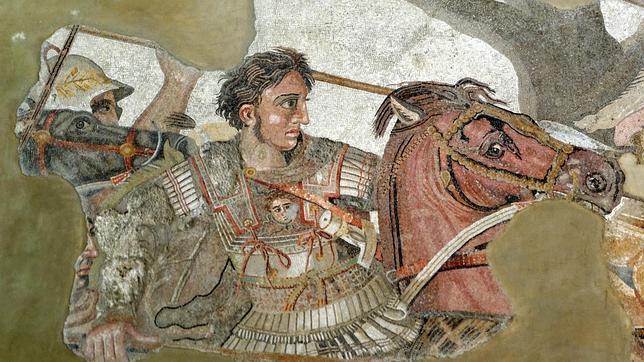 Alejandro combate contra el rey persa Darío III en la batalla de Issos
