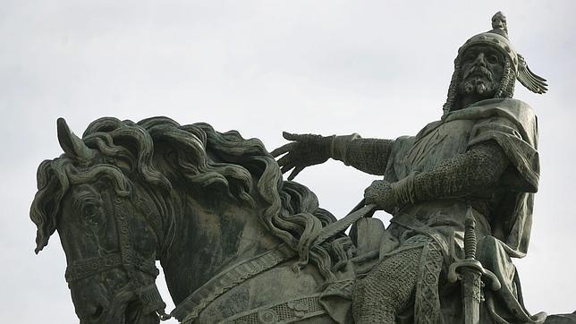Estatua de Jaime I El Conquistador en Valencia