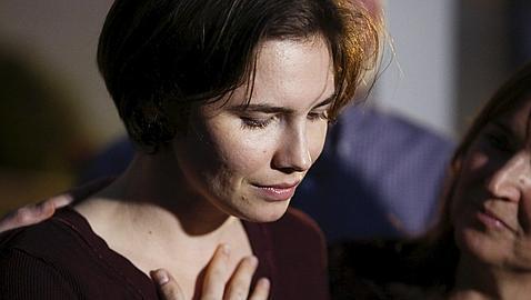 Amanda Knox tras conocer la sentencia