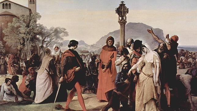 El cuadro «Las Vísperas sicilianas», de Francesco Hayez