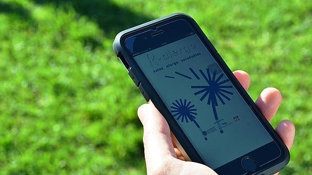 Imagen de la app en el móvil