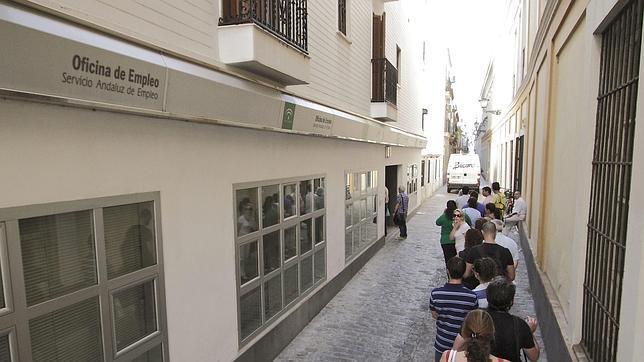 Vista de una oficina de empleo en el sur de España