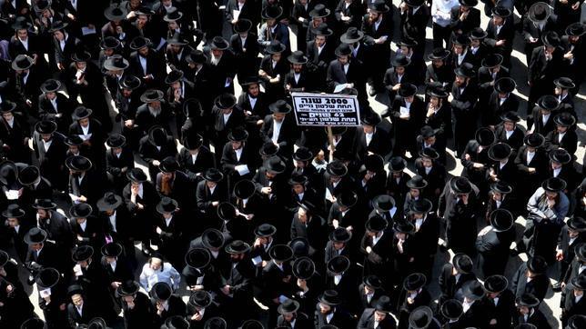 En la imagen, una protesta de judíos ultraortodoxos en 2010