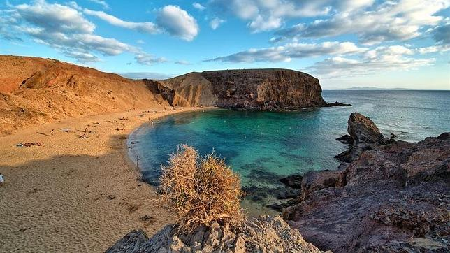 Panorámica de playa Papagayo, en Lanzarote
