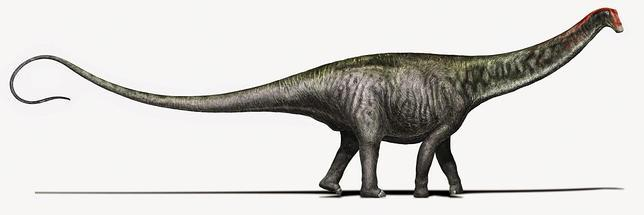 Recreación de un brontosaurio