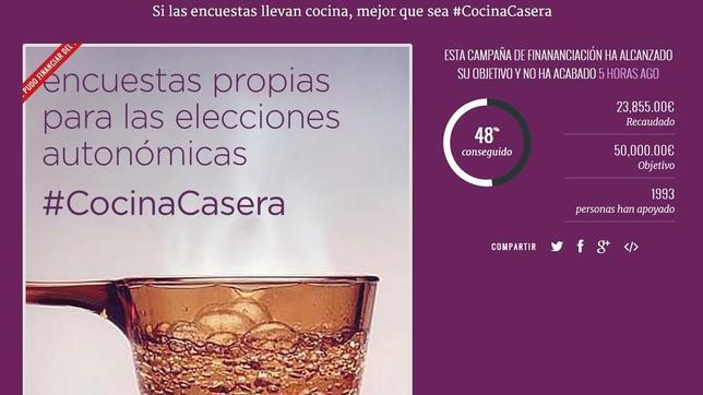 Cartel de la campaña de Podemos para recaudar fondos