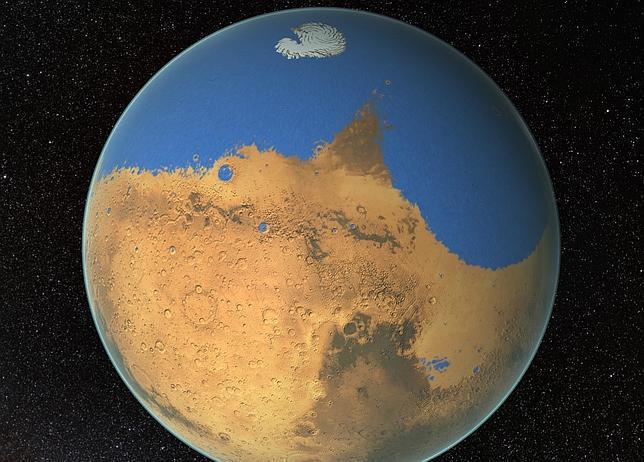 Científicos de la NASA han determinado que Marte tuvo un océano hace unos 4.500 millones de años que ocupó el 19 por ciento del planeta