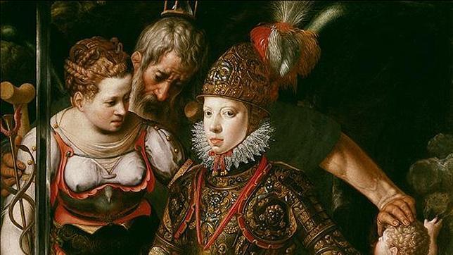 Alegoría de la educación de Felipe III por Justus Tiel