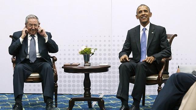 Uno de los momentos de la histórica reunión bilateral de este sábado