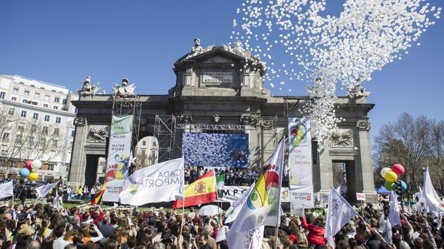 Manifestación del pasado 14 de marzo en Madrid en defensa de la vida, la mujer y la maternidad