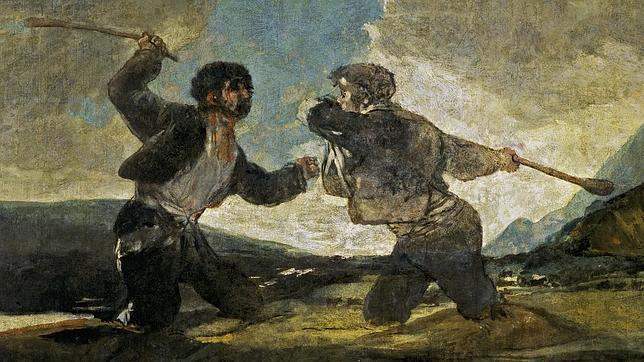 «Duelo a garrotazos», una de las pinturas negras de Francisco de Goya