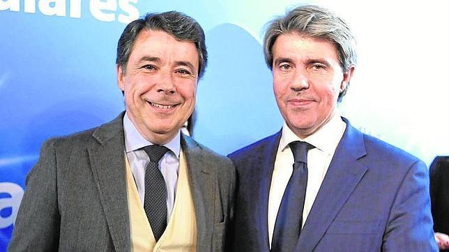 Ángel Garrido (derecha) junto a Ignacio González