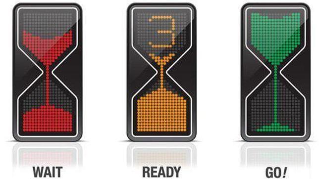 La luz intermitente no disuade a los peatones a la hora de cruzar