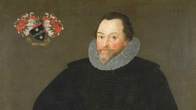 Retrato de Sir Francis Drake pintado por Marcus Gheeraerts el Joven