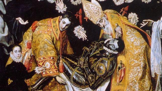 Detalle de «El entierro del Conde de Orgaz» de El Greco