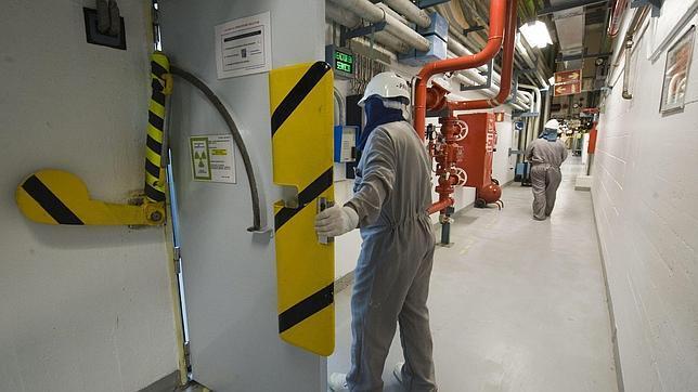 Interior de la planta nuclear