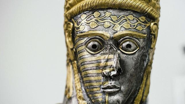 Pieza de la exposición sobre los tracios en el Louvre