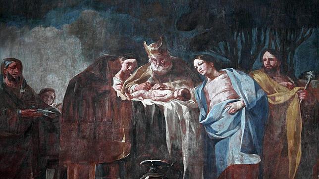 Una de las escenas pintadas por Goya en la Cartuja Aula Dei entre 1772 y 1774