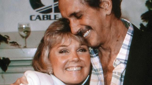 Doris Day y Rock Hudson en julio de 1985, en su última imagen juntos