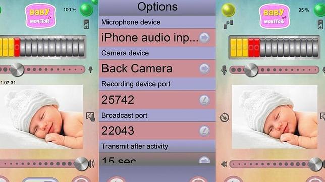 Aplicaciones para convertir el «smartphone» en un monitor para bebés