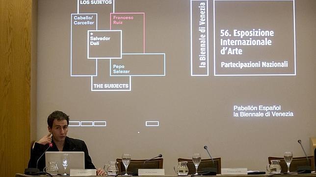 Martí Manen, durante la presentación de «Los sujetos», en Madrid