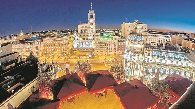 La terraza de The Principal Hotel se asoma a la Gran Vía madrileña