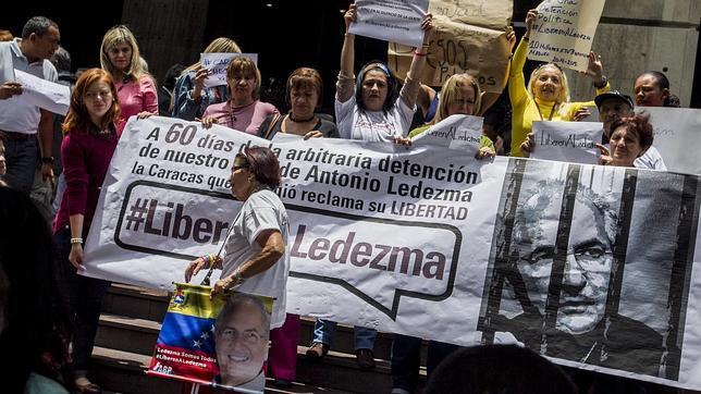 Concentración de apoyo al alcalde de Caracas encarcelado por el régimen chavista
